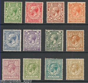 1924 George V Block Cypher Stamp Set Unmounted Mint